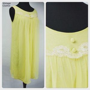 115fe06222 ... Vintage 1960s Komar Yellow Babydoll Nightgown ...